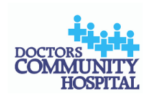 Doctors Community Hospital logo – square